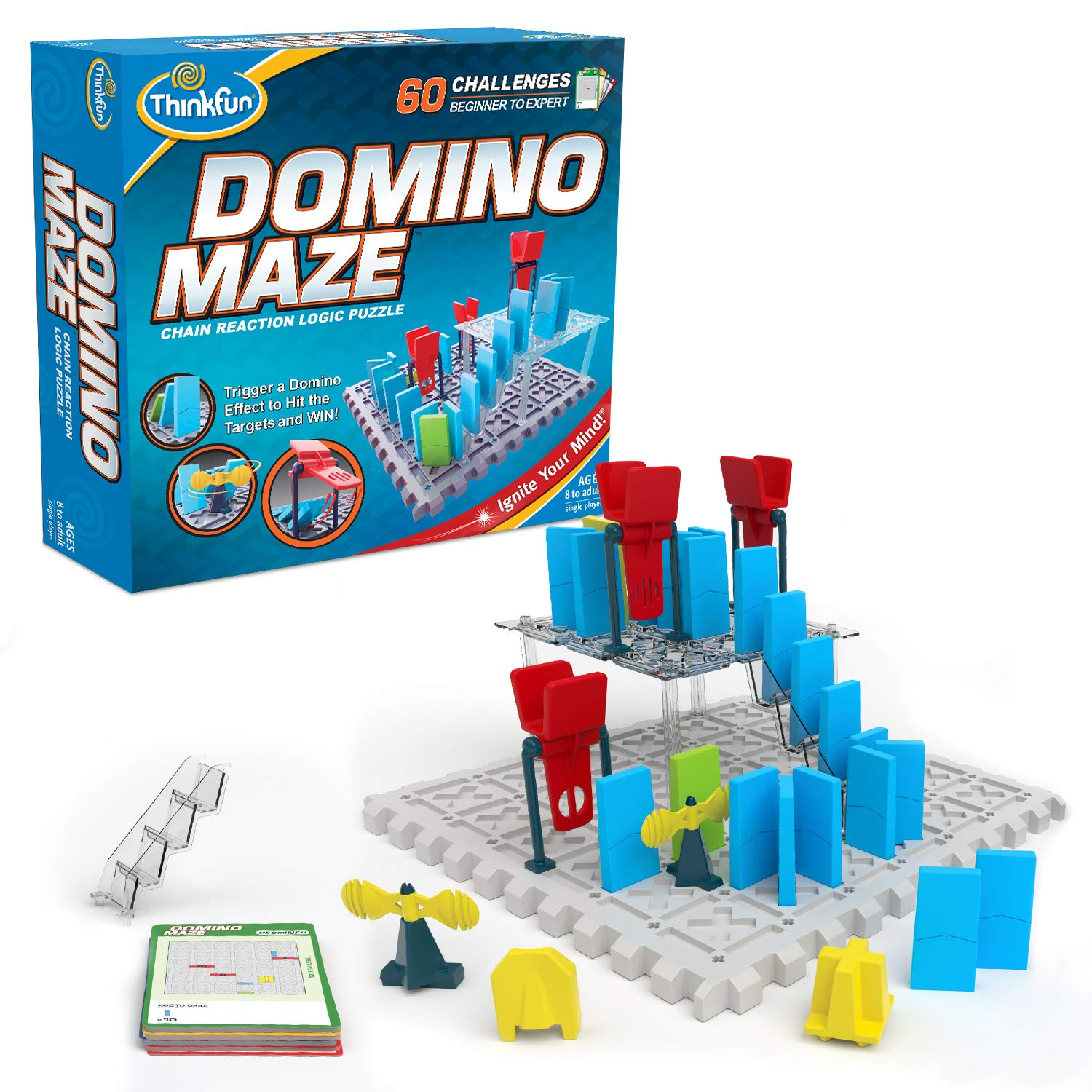 ThinkFun Domino Maze STEM Toy and Logic Game for Boys and Girls Age 8 and Up - Combines The Fun of Dominos with The Challenge of a Puzzle by Think Fun