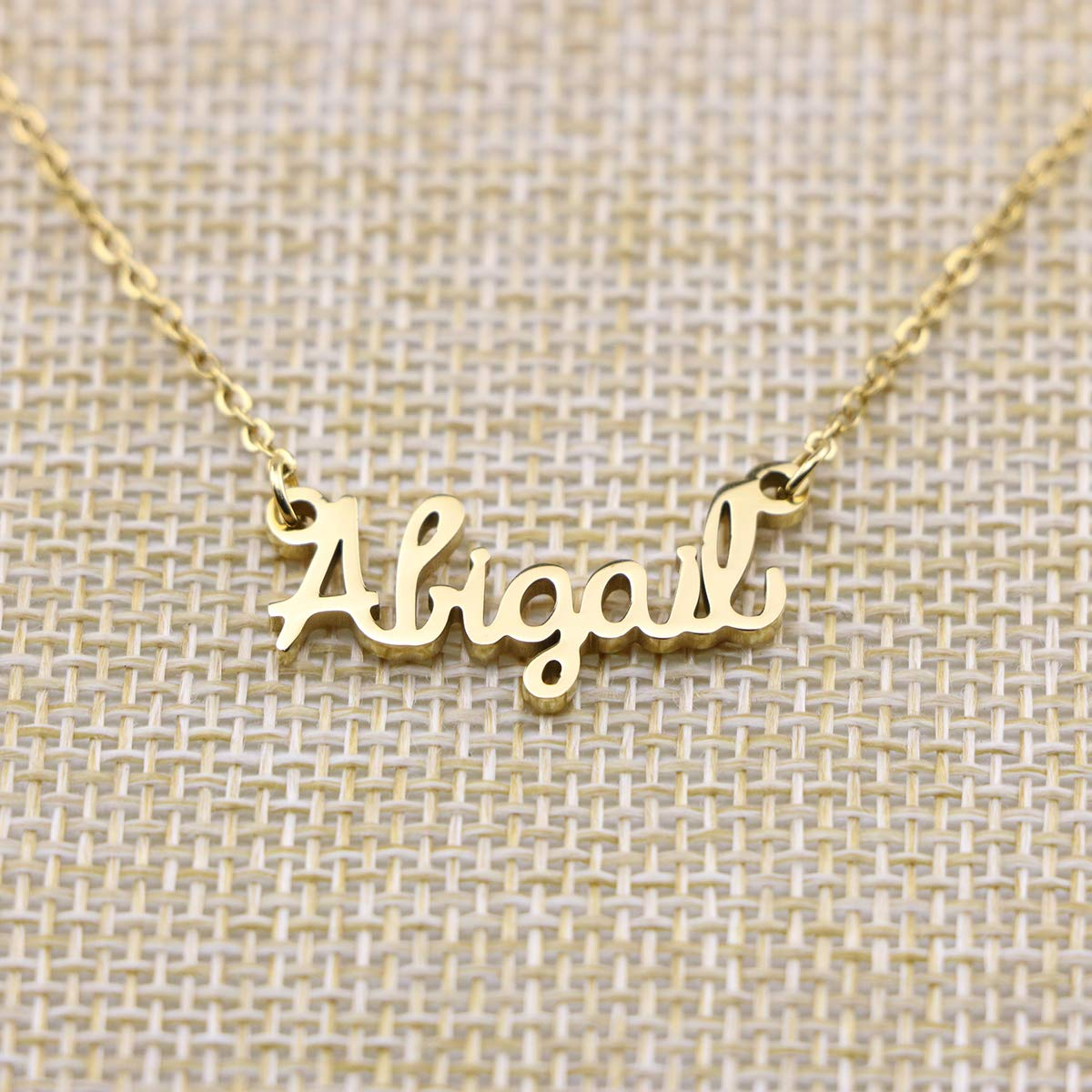 d899a51dd Amazon.com: Yiyang Personalized Name Necklace 18K Gold Plated Stainless  Steel Jewelry Birthday Gift for Girls Abigail: Jewelry