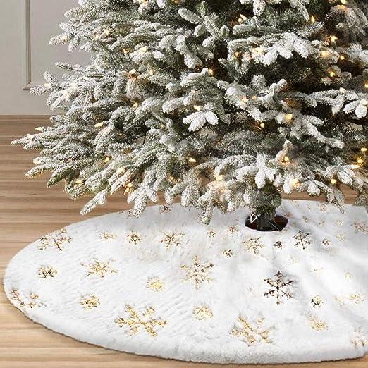 Falda árbol de Navidad Capas 50 Pulgadas Capas Piel sintética ...
