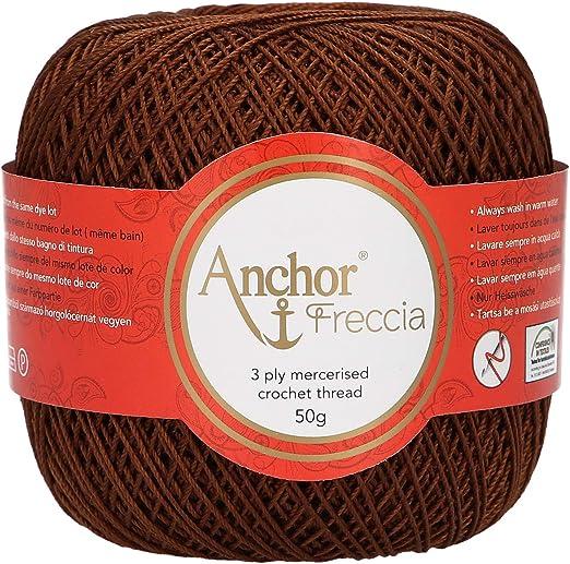 Anchor Freccia - Hilo de ganchillo (grosor 12, 100% algodón ...