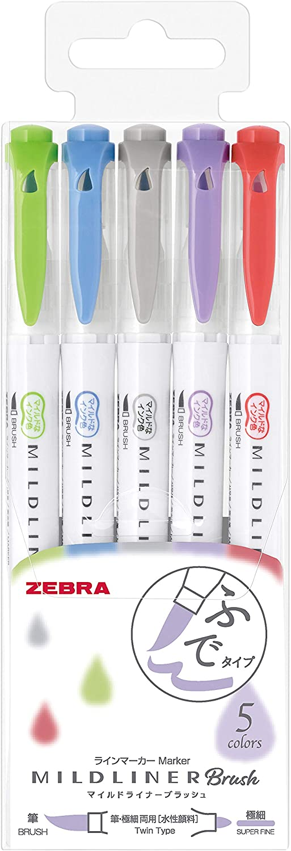Pentel Fude Touch Sign Pen Pentel SES15C Black Calligraphy Brush Sign Pens