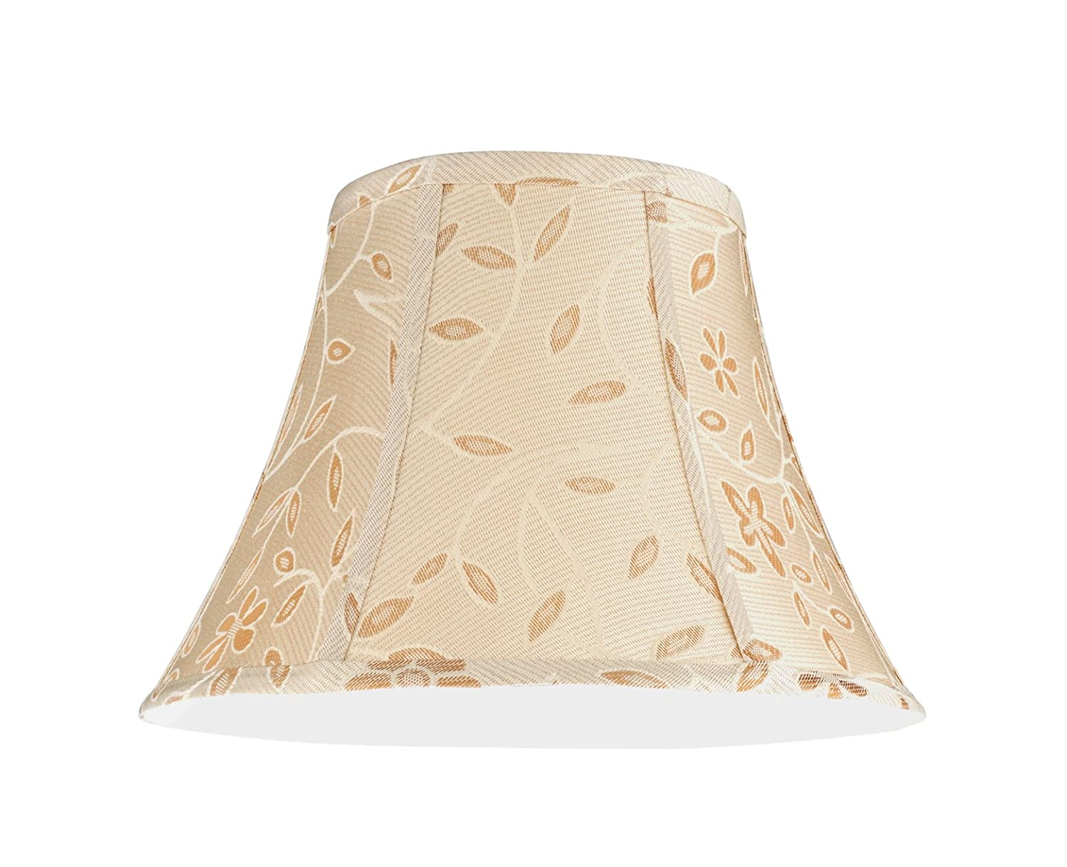5a903b04421b Aspen Creative 30091 Transitional Bell Shape Spider Construction Lamp Shade  in Gold, 13