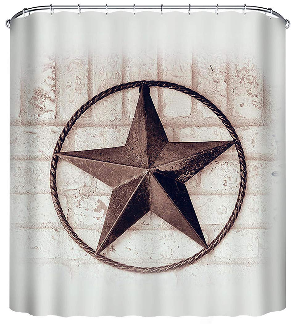 Details About Shower Curtain Texas Star Western Rustic Bathroom Decor  Primitive Gift New
