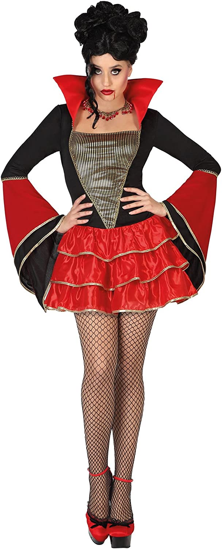 Atosa-26174 Disfraz Vampiresa para Mujer Adult, Color Rojo, XL (26174)