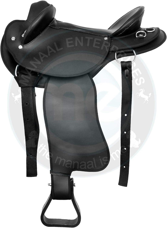 """Beautiful black Dressage Synthetic Saddle sizes 16/"""""""