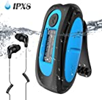 Swimming MP3 Player with Clip, AGPTEK 8GB IPX8 Waterproof Music Player