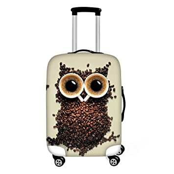 3D Personality Printed Pattern Travel Luggage Cover Baggage Suitcase Protector Dustproof Stretchy Easy To Identify