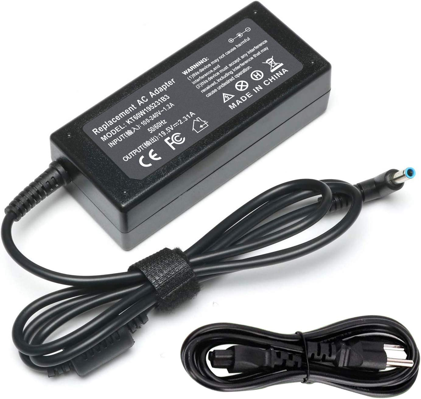 BE•Sell 45W 19.5V 2.31A AC Adapter Charger for HP Stream 11 13 14 Pavilion x360 m3-u001dx m3-u103dx Charger 15-f272wm 15-f387wm Notebook Convertible PC Power Supply Cord
