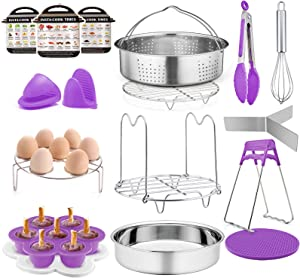 TeamFar Pressure Cooker Accessories, 17 Pieces 8 / 6qt Instant Air Fryer Crock Pot Accessories, Healthy & Toxic Free, Multi-use & Functional, Dishwasher Safe & Easy Clean