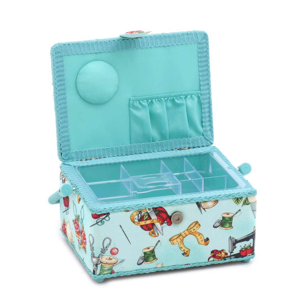 Hobby Gift Tattoo Notions Small Rectangle Sewing Box 24 x 16 x 11cm d//w//h