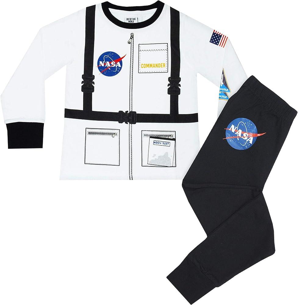 Nasa Conjunto de Pijama de Manga Larga para niño Astronauta ...