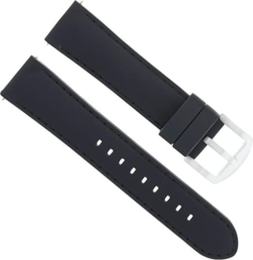 20mm Rubber Watch Band Strap Compatible With Citizen Eco Drive At0200 05e H500 S026989 Black Amazon Com