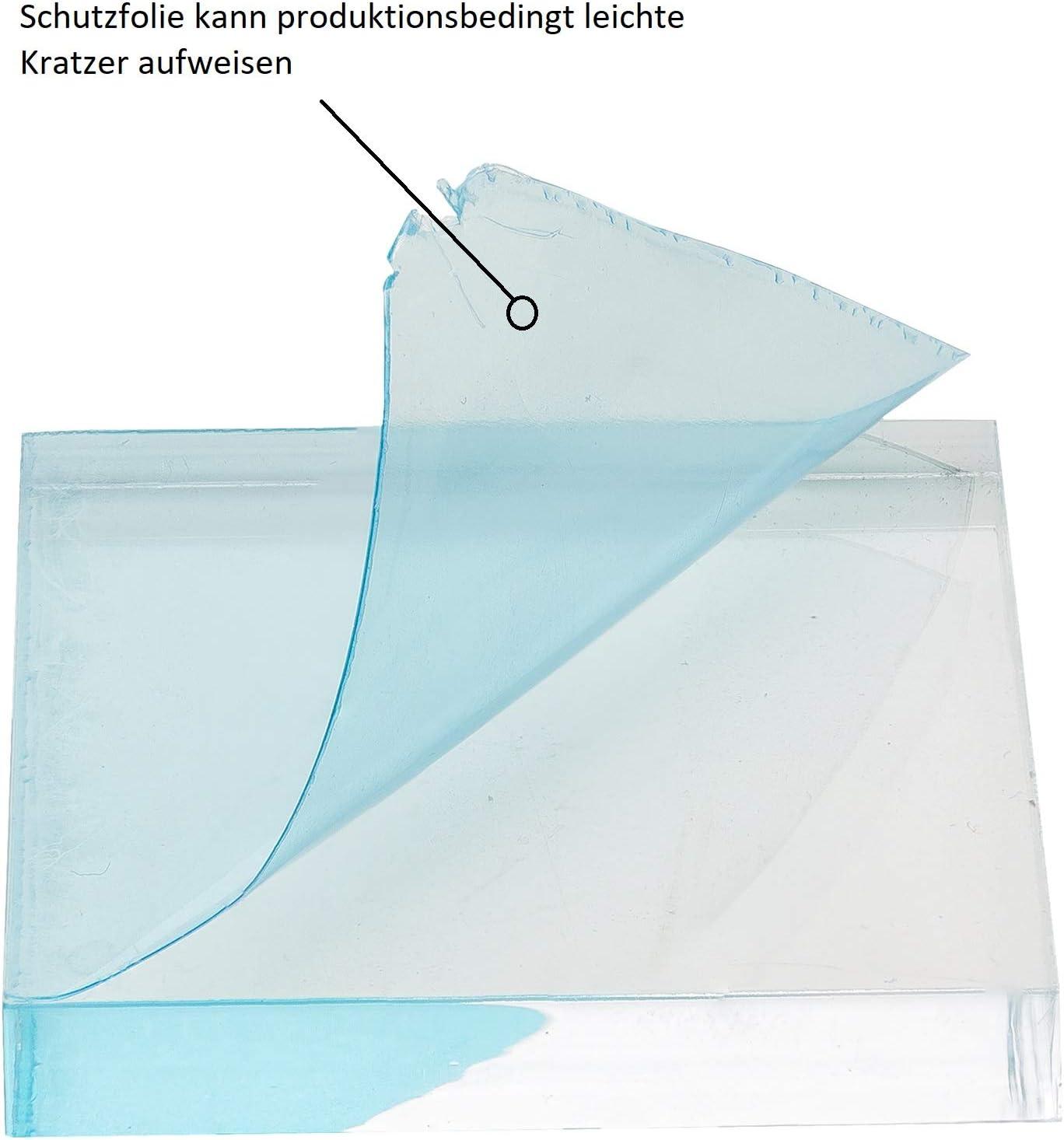 gepr/üfter UV-Schutz 6 mm stark 100x100 mm beidseitig foliert glasklar transparente Acrylglas- Plexiglas-Platte Acrylglas-Zuschnitt Quadratisch bruchfest /& vielseitig anwendbar