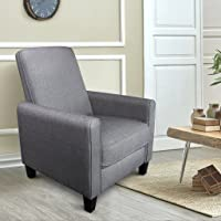 Langria Push-Back Recliner Chair with Footrest