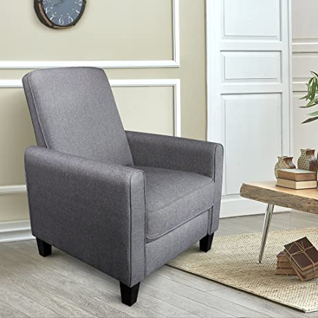 Contemporary Chairs Living Room. LANGRIA Premium Recliner Chair Sofa Padded Contemporary for Living Room  Home or Office Ergonomic Armrests Amazon com