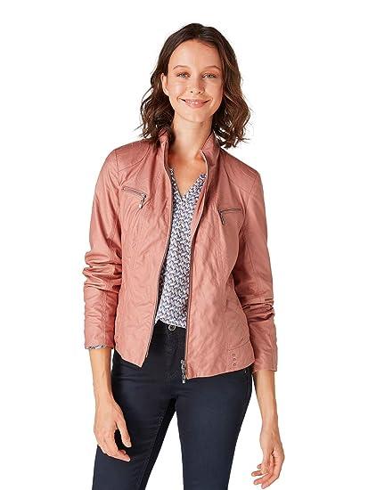 lebendig und großartig im Stil Bestbewertet authentisch großes Sortiment Bonita Damen Kunstlederjacke im Bikerstil: Amazon.de: Bekleidung