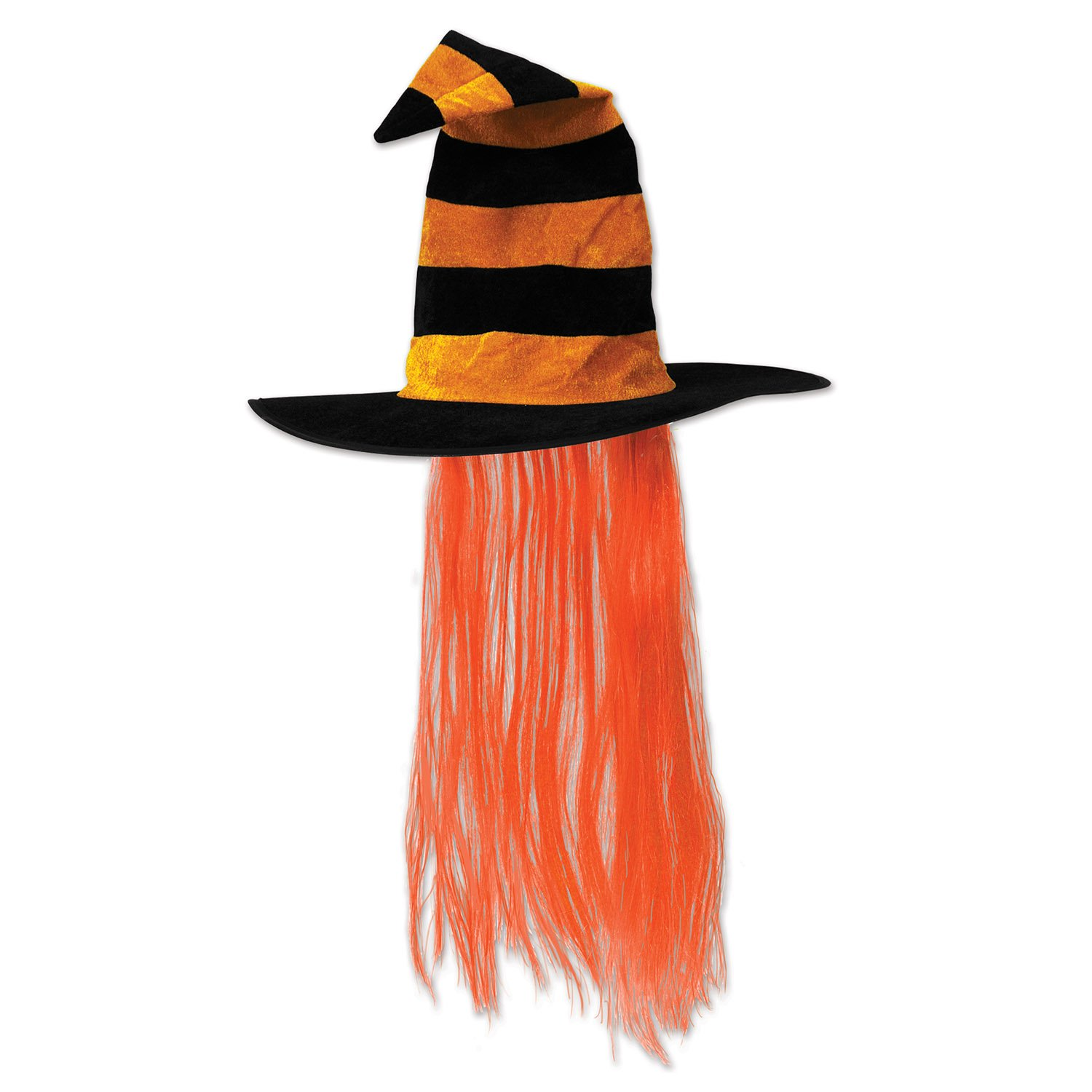 Beistle 00713-HP Witch Hat with Hair The Beistle Company