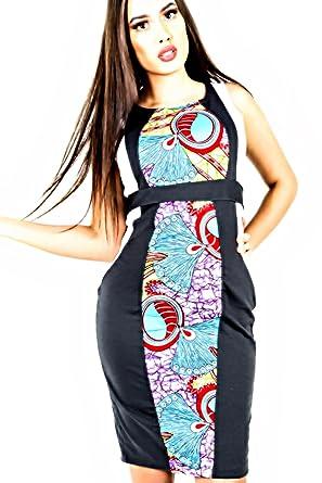 MODE ACP Robe Courte Africaine en Tissu Strech et pagne Wax Cousu Main  Amazon.fr Vêtements et accessoires