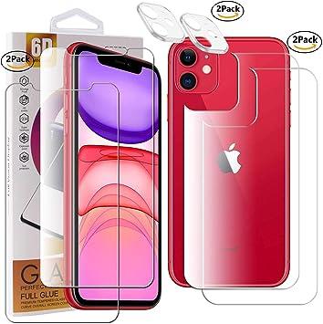 Guran 2 Paquete Protector de Pantalla para iPhone 11 Smartphone 9H Dureza HD Película: Amazon.es: Electrónica
