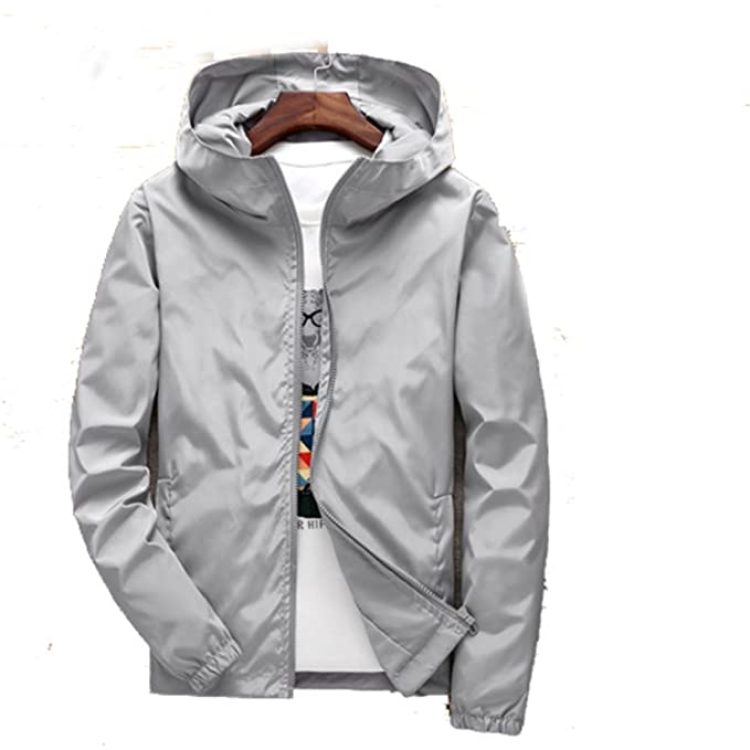 Feroni 2018 Plus Size Mens Spring Summer Hooded Jacket ...