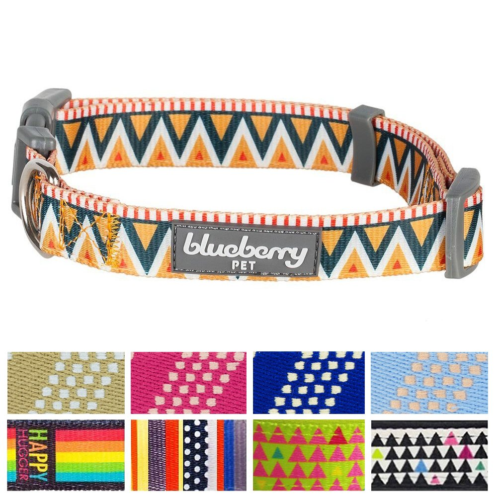 Home collars blueberry pet dog collar nautical flags inspired - Amazon Com Blueberry Pet Elite Basic Dog Collar With Flame Stitch And Henley Stripes Neck 12 16 Small Collars For Dogs Pet Supplies