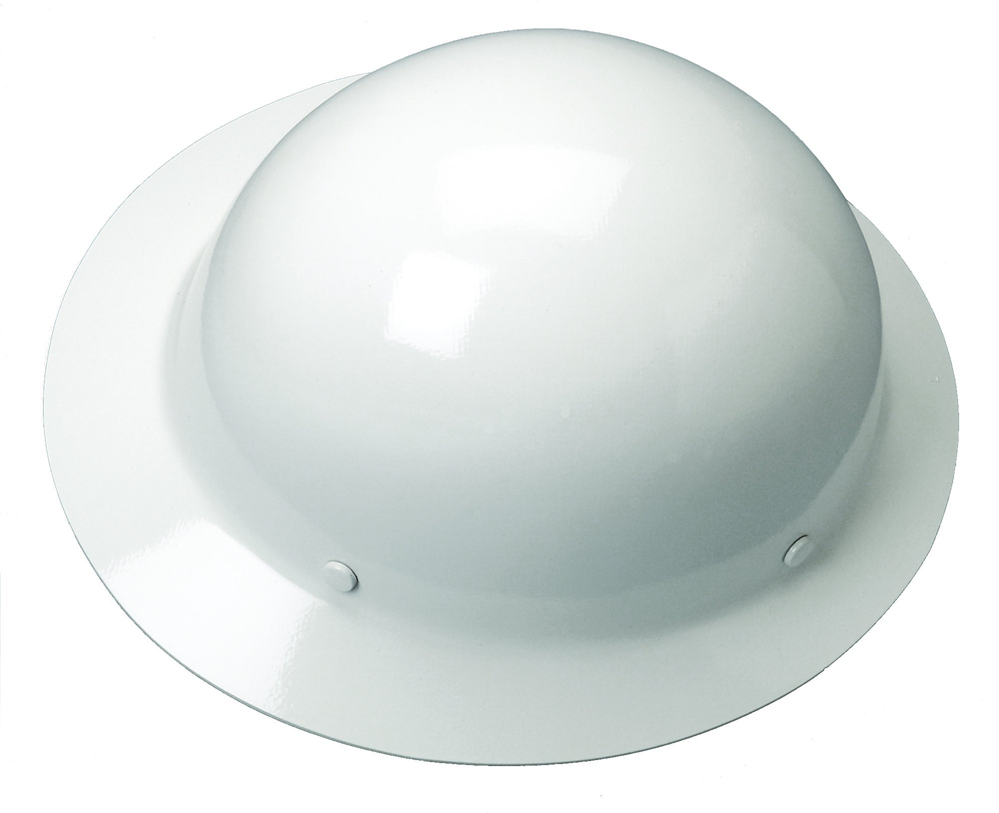 MSA Safety 454665 Skullgard Full-Brim Protective Hat w/ Staz-On Suspension, White, Standard