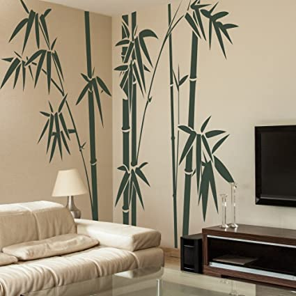 GECKOO Home Decor   Family Bamboo Wall Decals Living Room Wall Sticker (  X Large