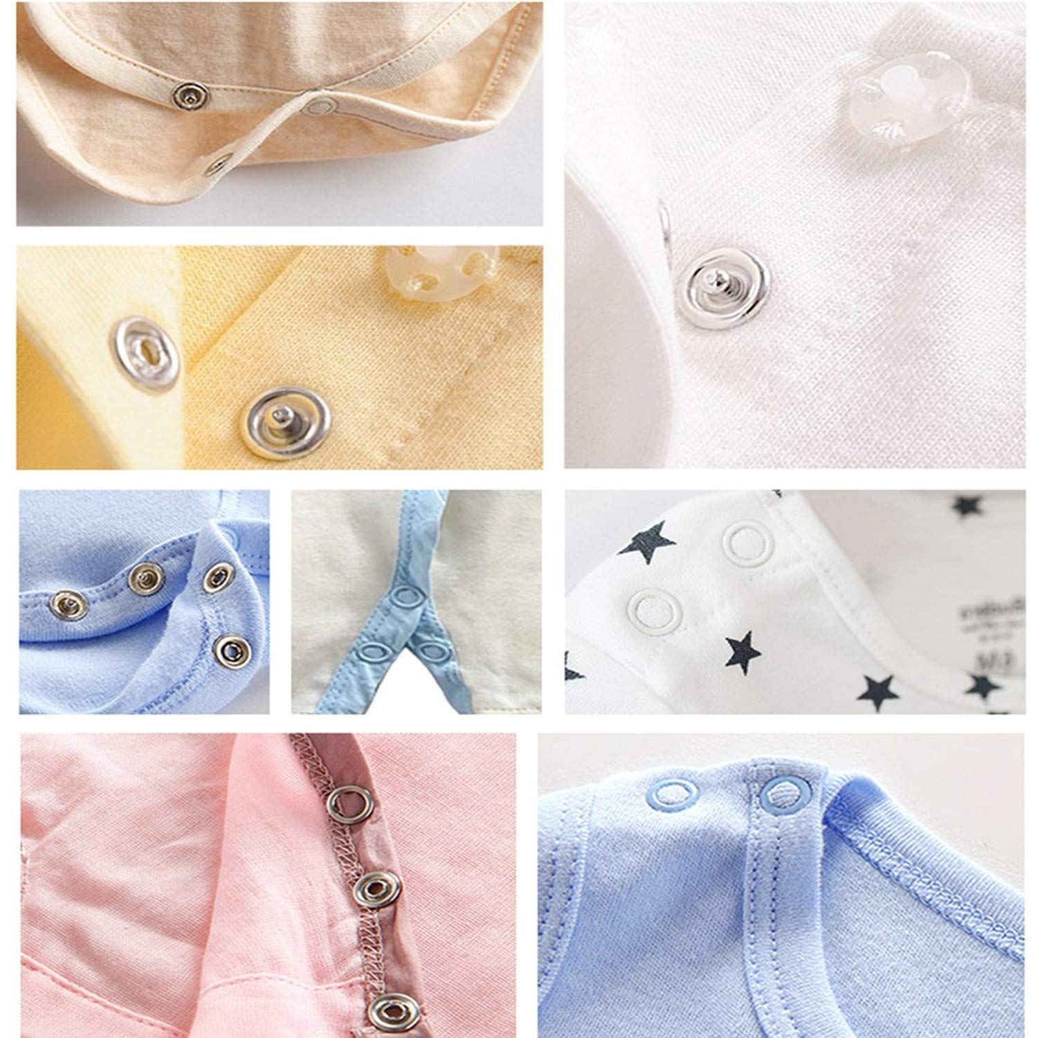 Leather Baby Bibs Custom Clothing Set of 100 Arts and Crafts Projects Weddecor 9.5mm Press Studs Silver Snap Poppers Brass Material Prong Ring Fasteners For Baby Clothes