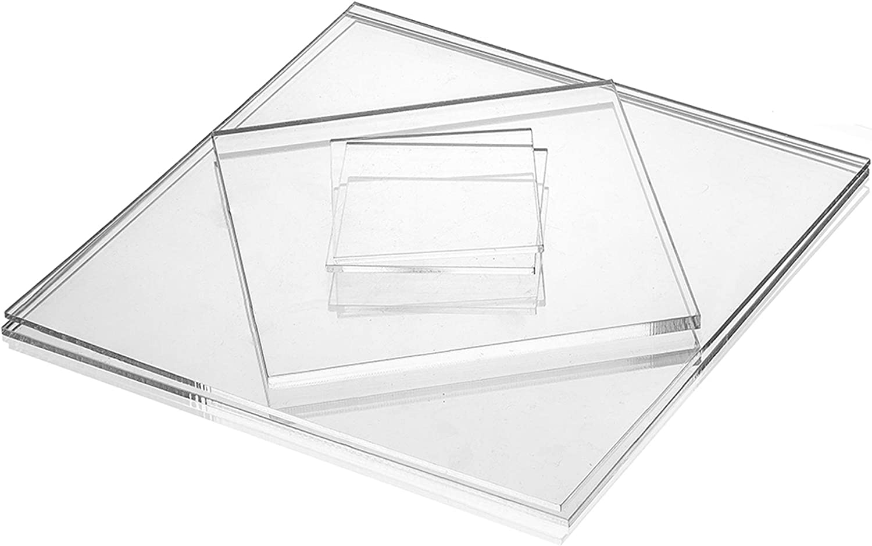 250x250 mm beidseitig foliert Acrylglas-Zuschnitt Quadratisch transparente Acrylglas- Plexiglas-Platte glasklar bruchfest /& vielseitig anwendbar gepr/üfter UV-Schutz 8 mm stark