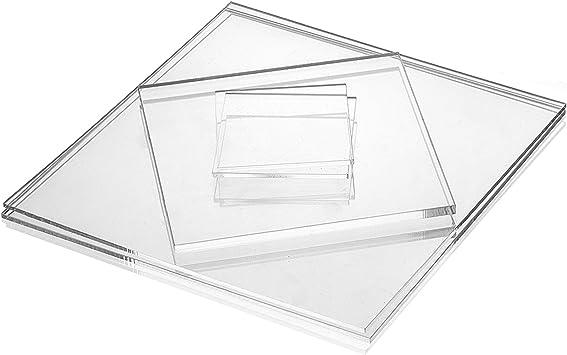 Acrylglas Zuschnitt Plexiglas Zuschnitt 10-25mm Platte//Scheibe klar//transparent 10 mm, 500 x 500 mm