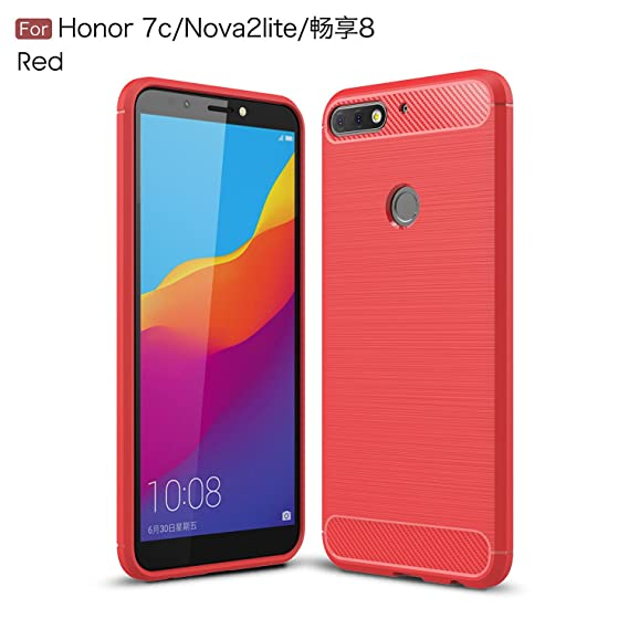 bcffece4c31 Huawei Honor 7c Case - TianTa - Carbon Fiber Case Ultra Slim Cover Light  Weight Rubber