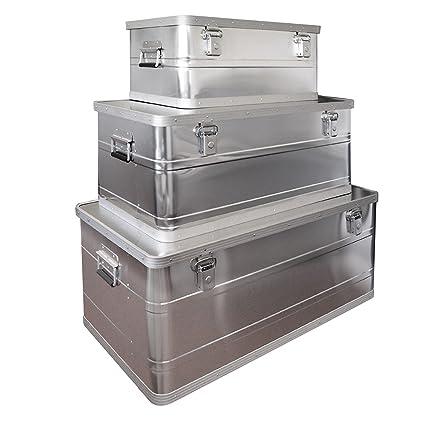 DEMA - Juego de cajas de aluminio (3 unidades, 25, 45 y 90