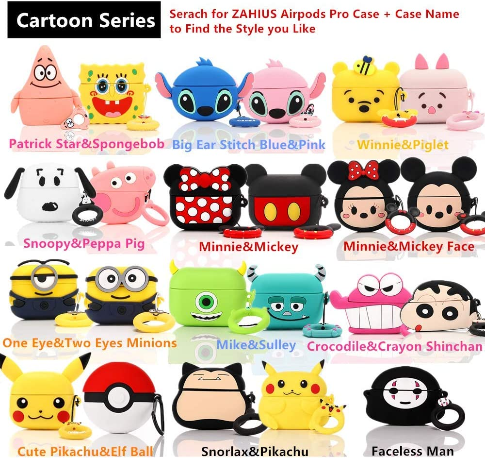 ZAHIUS Airpods Pro Silicone Case Funny Cover Compatible for Apple Airpods Pro Snoopy 3D Cartoon Pattern Designed for Kids Girl and Boys