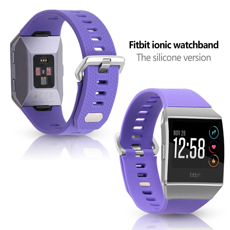 Fitbit Ionic - Correa para reloj, silicona suave correa para ...