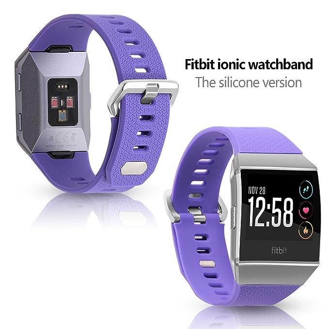 Fitbit Ionic - Correa para reloj, silicona suave correa para la ...