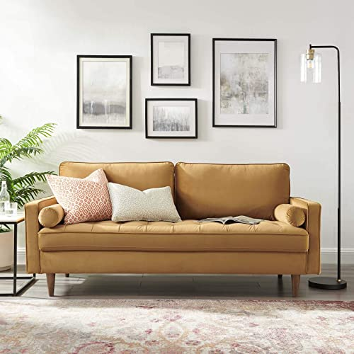 Modway Valour Performance Velvet Upholstered Tufted Sofa