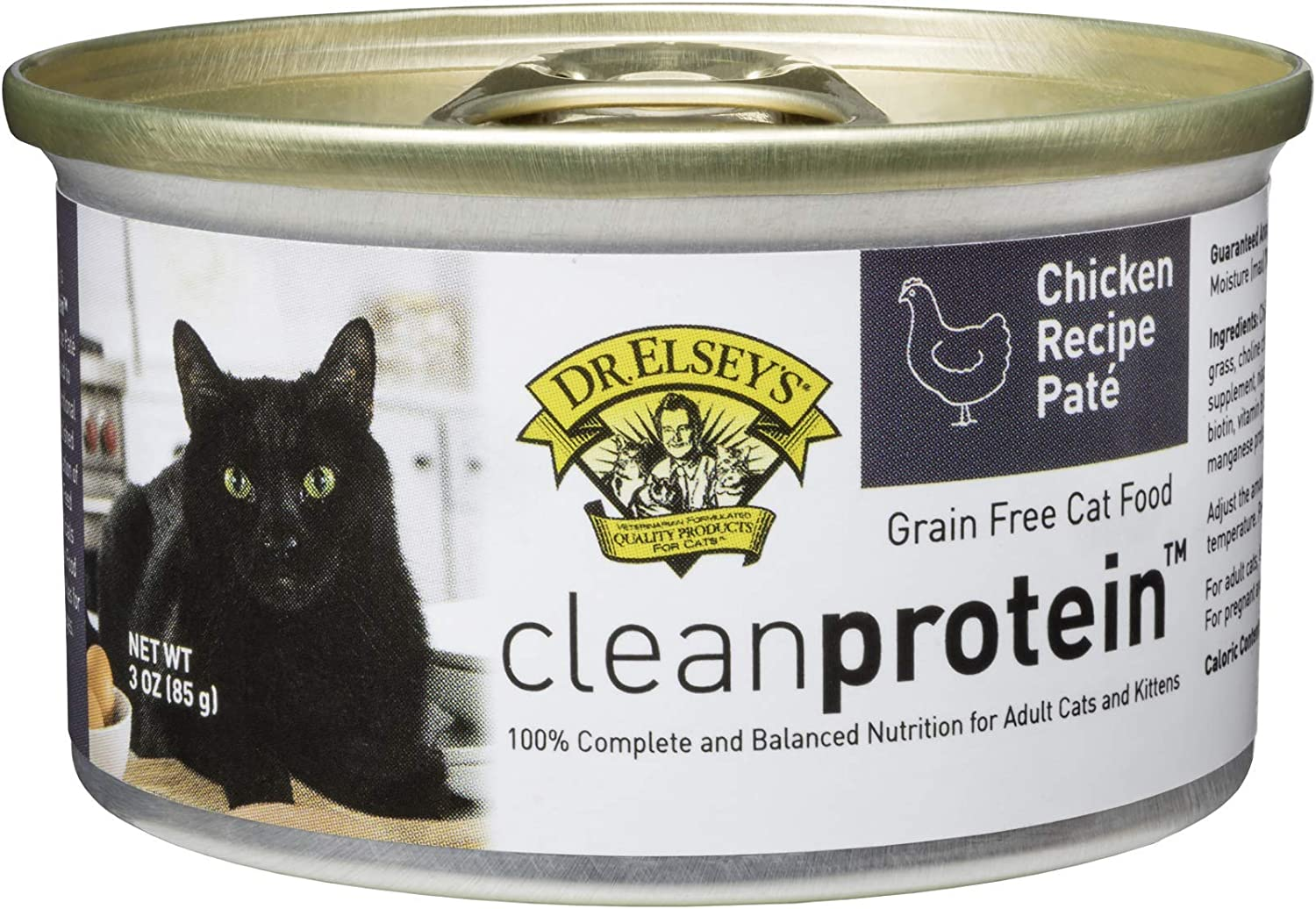 Dr. Elsey's Cleanprotein Chicken Formula Canned Cat Food, 3oz (Case of 18)
