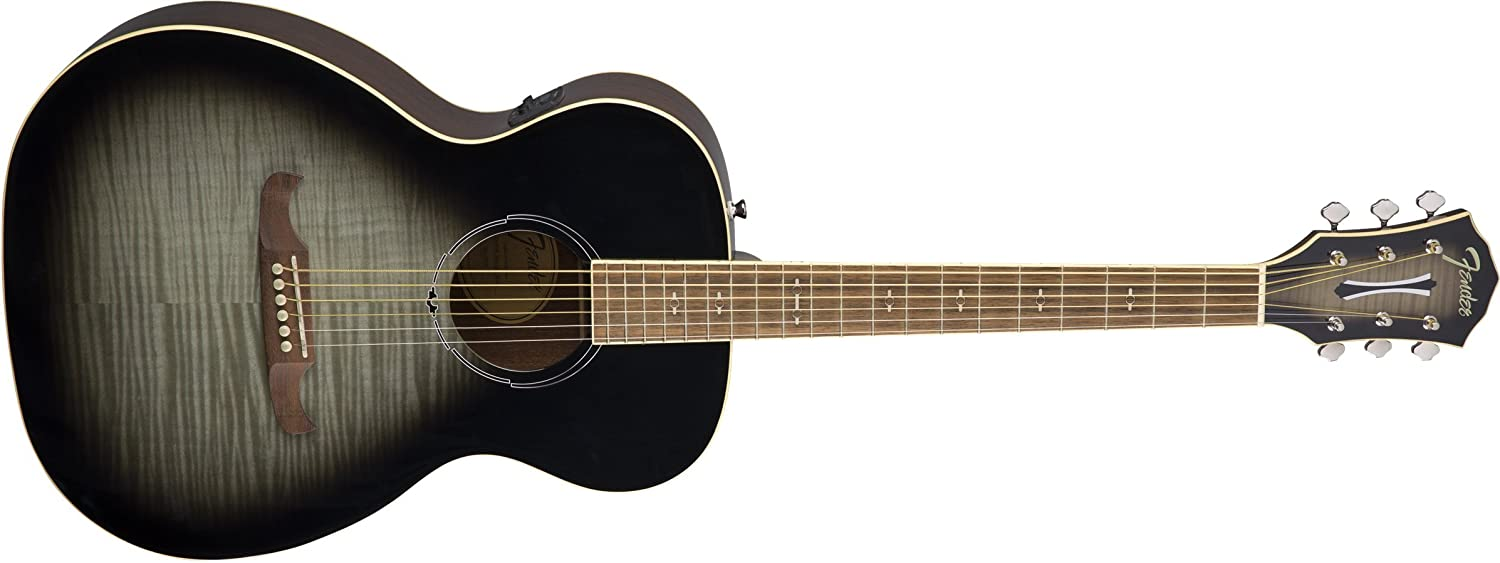 Rosewood Fingerboard Natural Fender FA-235E Concert Body Style Acoustic Guitar
