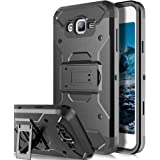 Galaxy J7 Neo J701M / J7 Nxt J701F / J7 Core J701 Case,Telegaming Heavy Duty Impact Resistant Armor Case Holster Belt Clip Kickstand Cover For Samsung Galaxy J7 Neo J701M / J7 Core J701FZ Black