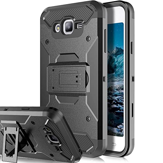 pretty nice 869a2 14bae Galaxy J7 Neo J701M / J7 Nxt J701F / J7 Core J701 Case,Telegaming Heavy  Duty Impact Resistant Armor Case Holster Belt Clip Kickstand Cover For  Samsung ...