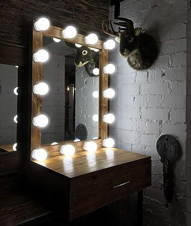 makeup mirror lights hollywood style led vanity mirror lights 10 led rh amazon com