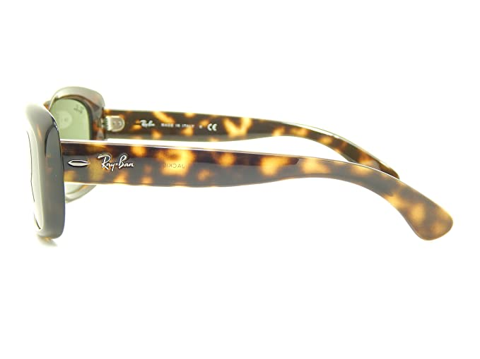 ac6a612f7a Amazon.com  Ray Ban Jackie OHH RB4101 710 Tortoise Green Classic 58mm  Sunglasses  Clothing