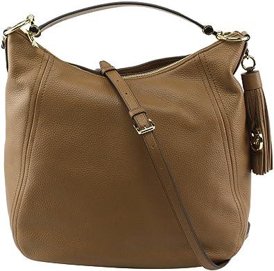 Michael Kors Women s Frances XLarge Leather Shoulder Handbags (Acorn) a831cae16b840