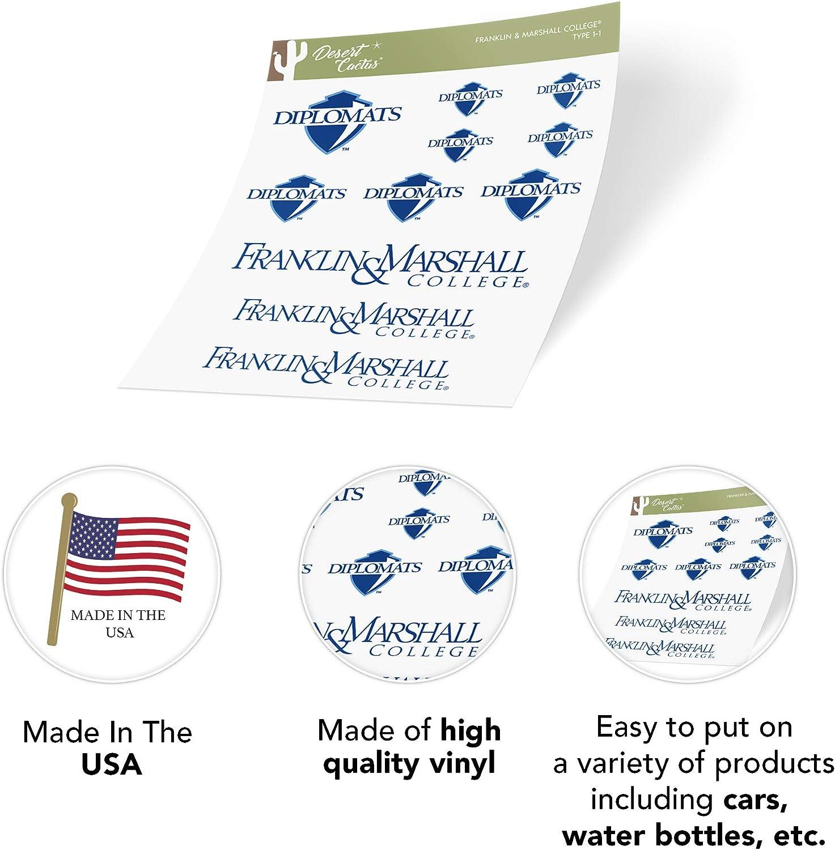 Type 1-1 Sheet Franklin /& Marshall College Diplomats NCAA Sticker Vinyl Decal Laptop Water Bottle Car Scrapbook