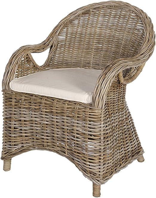 4x Lot Poly Rotin Chaise Chaise en rotin Chaise de jardin sièges gris-chiné