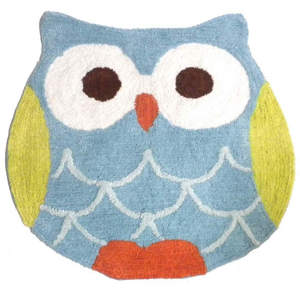 Hooty Owl Bath Rug by Saturday Knight