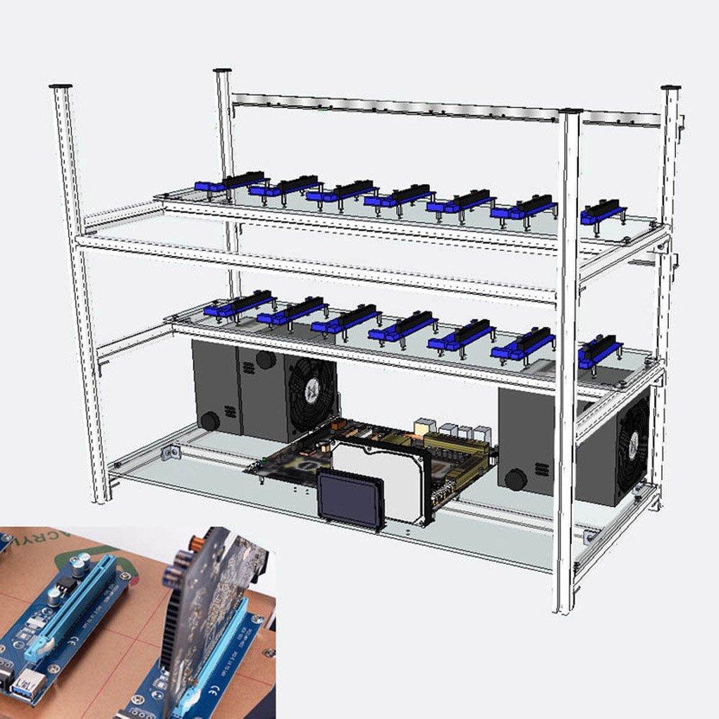 tanli Open Air Mining Rig stapelbar Rahmen 14 GPU: Amazon.de ...