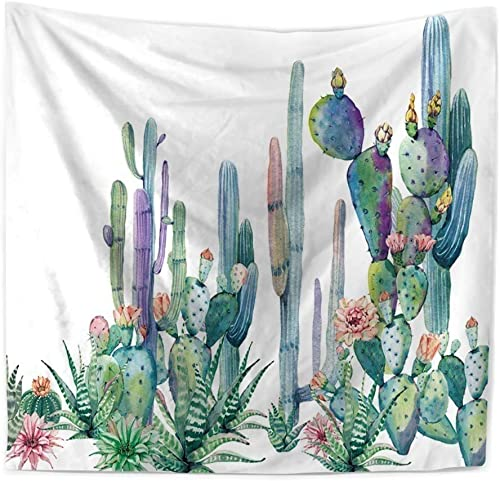 YIWINNER Cactus Tapestry Wall Hanging Home Dorm Decoration Table Cloth 60 X80