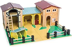 Le Toy Van - Educational Wooden Toy Colourful Wooden Farm Playset | Great Interactive Role Play Gifts for A Boy Or Girl - 3+ Years (TV410)