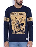 Difference of Opinion Men's Cotton Regular Fit Crew Neck Full Sleeves Road Race Bike Printed T-Shirt